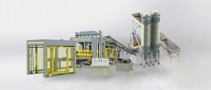 Big machine model QTY12-15 high capacity block making machine complete line