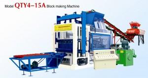 Automatic model QTY4-15A Hollow block making machine
